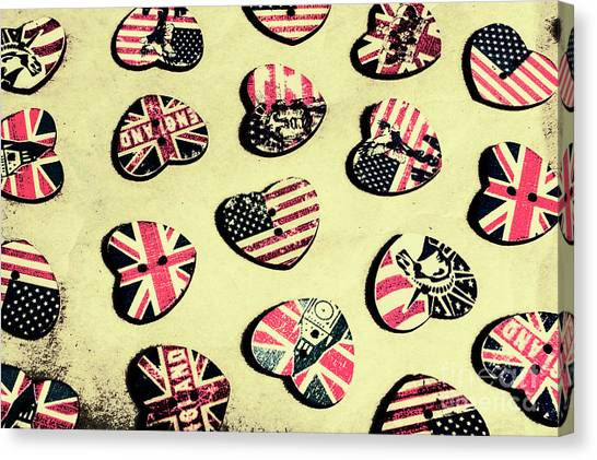 Guitar Picks Canvas Print - Patriotic Picks by Jorgo Photography - Wall Art Gallery