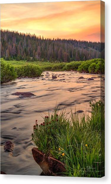Uinta Canvas Print - Peaceful Uinta Sunset by James Zebrack