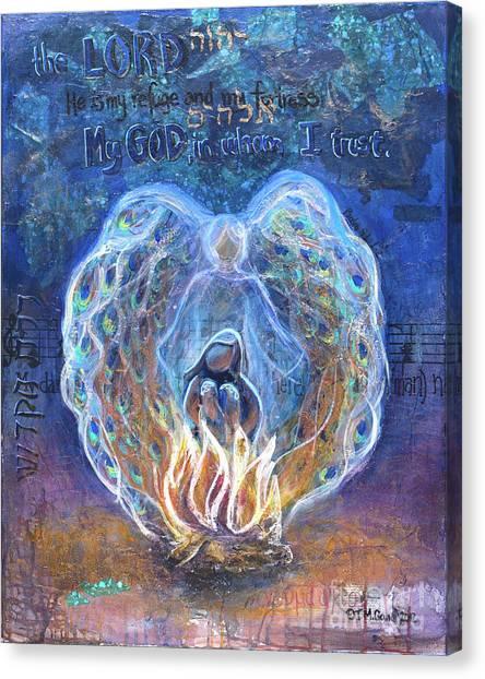 Peacock Angel Canvas Print