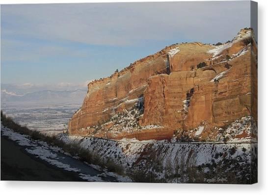 Peak-a-boo Canyon Canvas Print