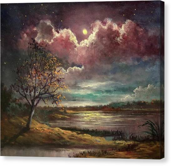 Pearl Of The Night Canvas Print