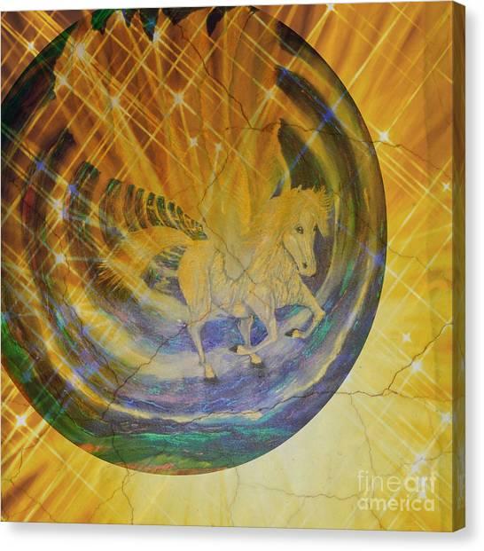 Canvas Print featuring the mixed media Pegasus Golden Ray by Sabine ShintaraRose