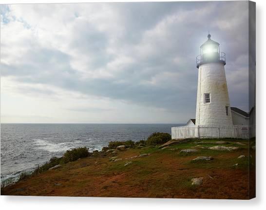 Bristol Canvas Print - Pemaquid Point Lighthouse by Thomas Northcut