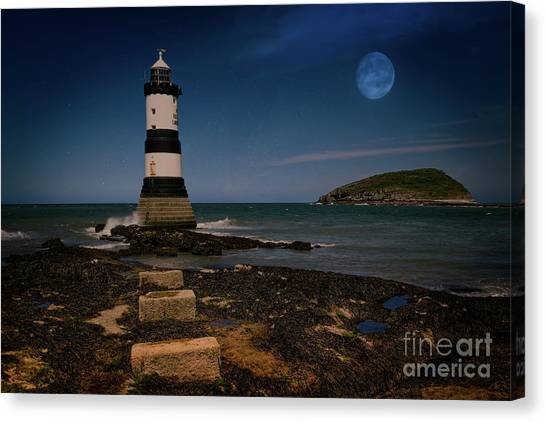 Canvas Print - Penmon Lighthouse And Puffin Island by Adrian Evans