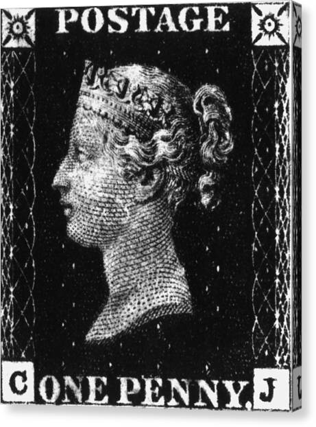 Penny Black Canvas Print by Hulton Archive