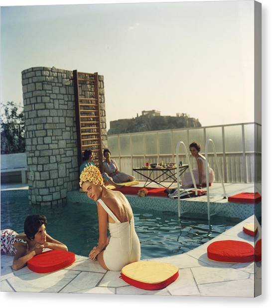 Penthouse Pool Canvas Print by Slim Aarons