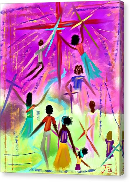 People Of The Cross Canvas Print