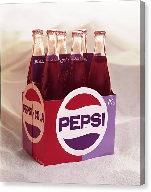 Pepsi Cola Sixpack Canvas Print