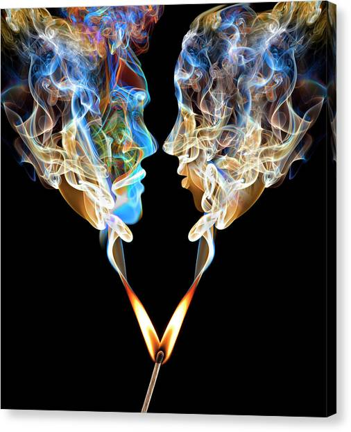 Perfect Match Up In Smoke Canvas Print