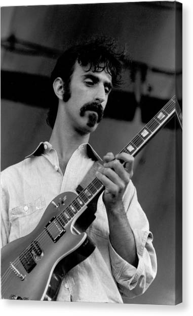 Frank Zappa Canvas Print - Performing by Tom Copi
