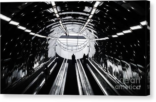 Urban Life Canvas Print - Perspective Light Composition In Warsaw by Vadym Tarasov