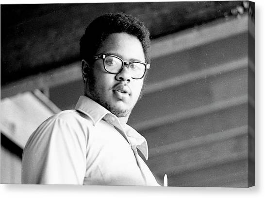 Perturbed High School Student, With Substantial Eyeglasses, 1972 Canvas Print