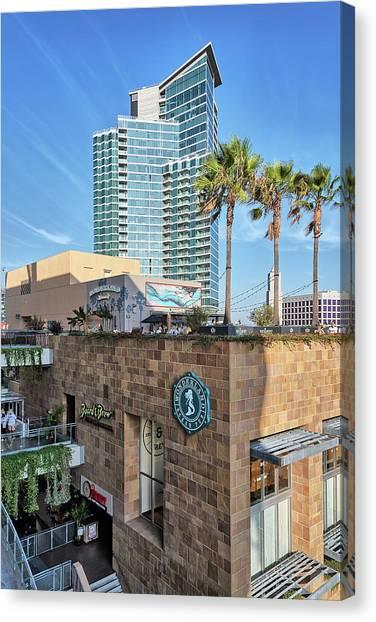 San Diego Padres Canvas Print - Petco Park Pub Eateries  by Robert VanDerWal