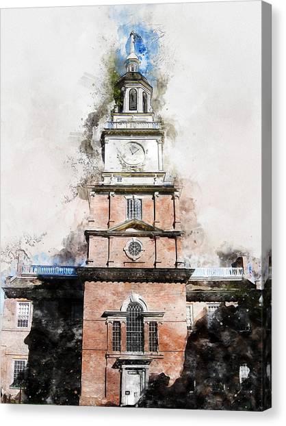 Philadelphia Independence Hall - 01 Canvas Print