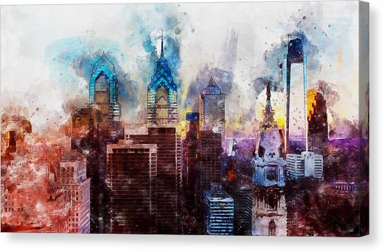 Philadelphia, Pennsylvania - 01  Canvas Print by Andrea Mazzocchetti