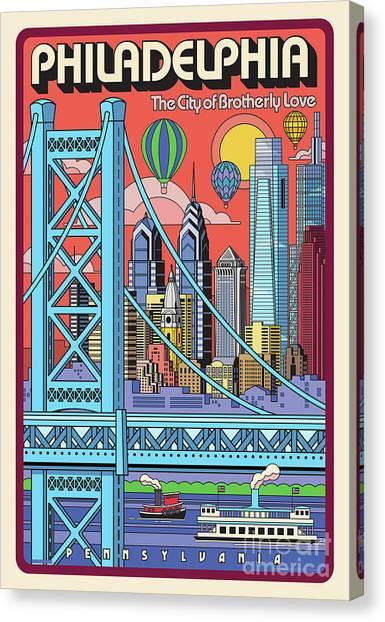 Philadelphia Phillies Canvas Print - Philadelphia Poster - Pop Art - Travel by Jim Zahniser