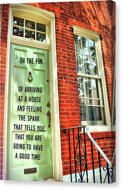 Philly Welcome Quote Canvas Print by JAMART Photography