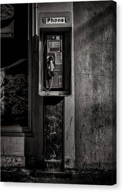 Canvas Print featuring the photograph Phone Booth No 9 by Brian Carson