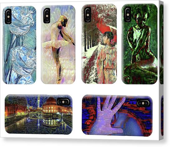 Phone Cases Samples Canvas Print