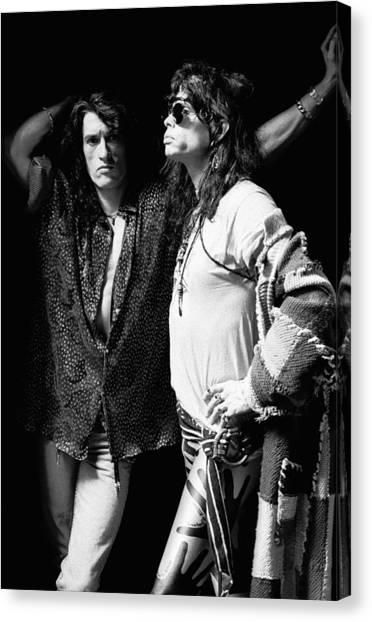 Steven Tyler Canvas Print - Photo Of Aerosmith by Paul Bergen