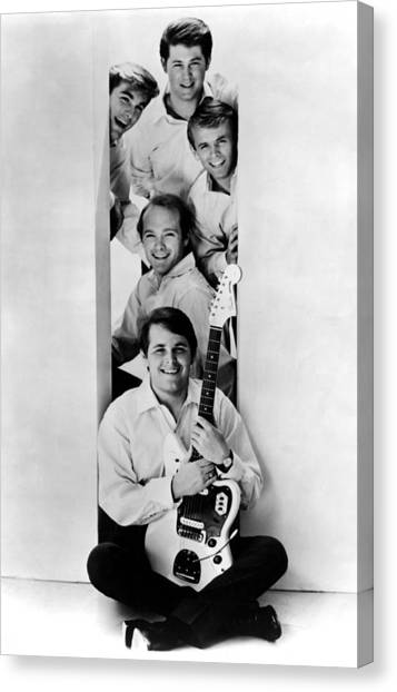 Photo Of Beach Boys And Al Jardine And Canvas Print by Ca