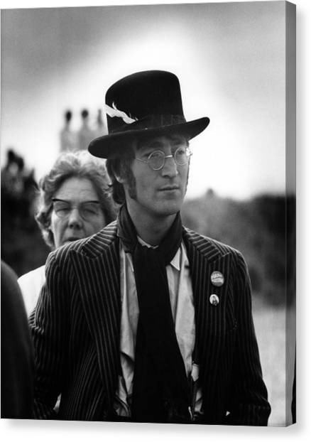Photo Of Beatles And John Lennon And Canvas Print by David Redfern