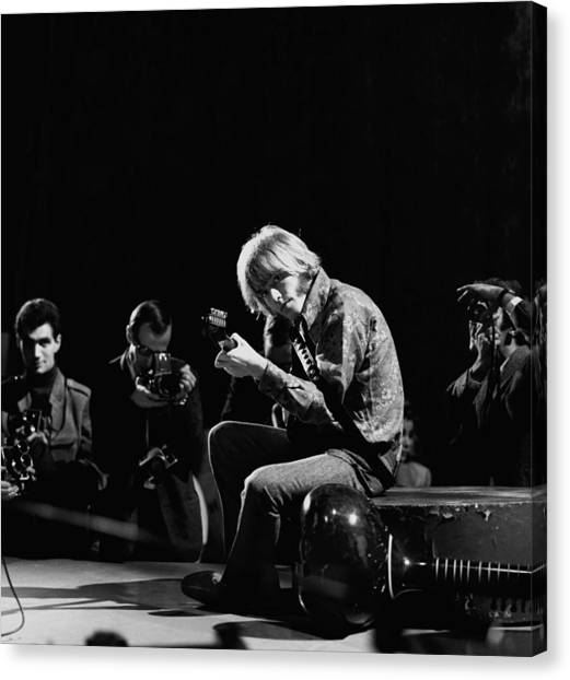 Photo Of Brian Jones And Rolling Stones Canvas Print by David Redfern