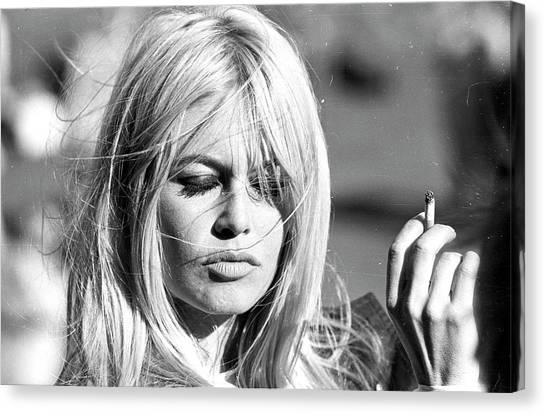 Photo Of Brigitte Bardot Canvas Print