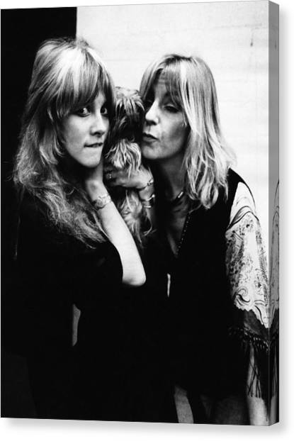 Mac Canvas Print - Photo Of Christine Mcvie And Stevie by Fin Costello