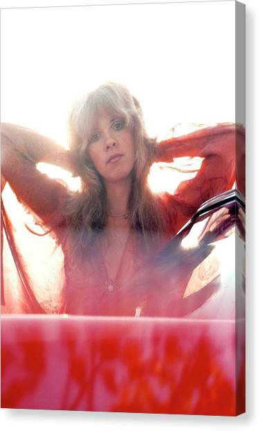 Mac Canvas Print - Photo Of Fleetwood Mac And Stevie Nicks by Fin Costello