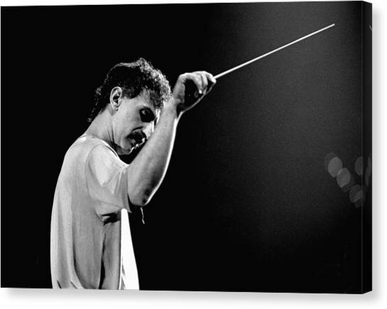 Frank Zappa Canvas Print - Photo Of Frank Zappa by Paul Bergen