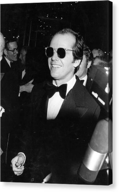 Photo Of Jack Nicholson Canvas Print