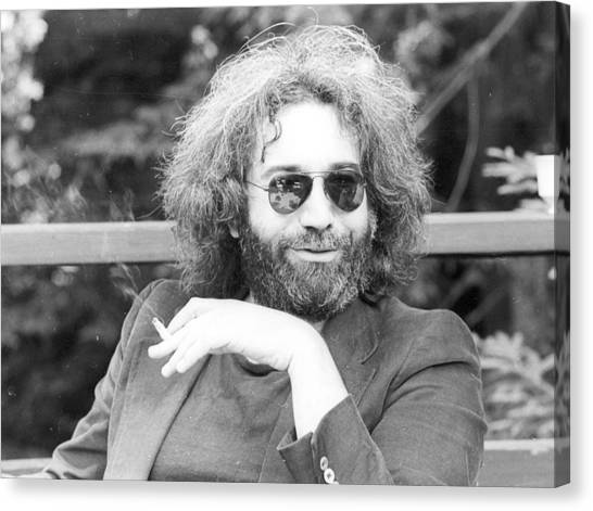 Photo Of Jerry Garcia Canvas Print