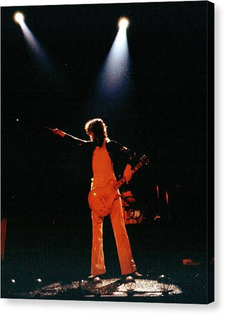Jimmy Page Canvas Print - Photo Of Jimmy Page by Larry Hulst