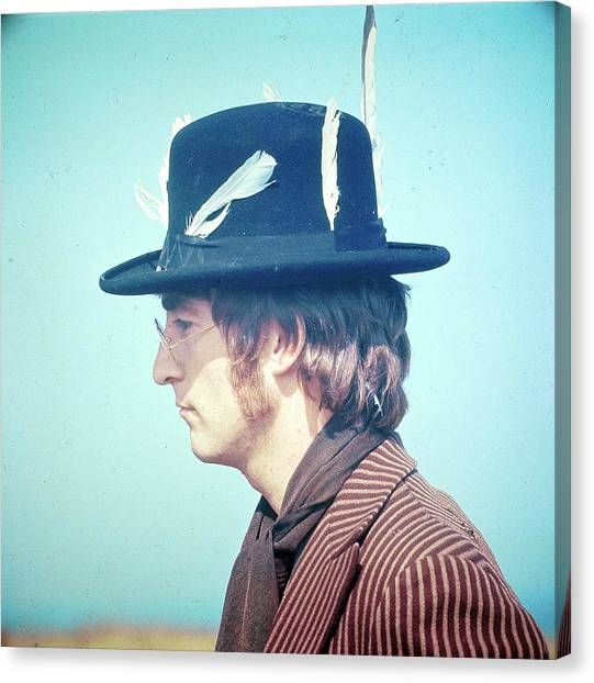 Photo Of John Lennon Canvas Print by David Redfern