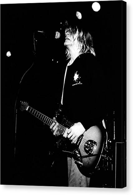 Photo Of Kurt Cobain And Nirvana Canvas Print by Paul Bergen