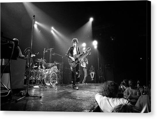 Jimmy Page Canvas Print - Photo Of Led Zeppelin And Robert Plant by David Redfern