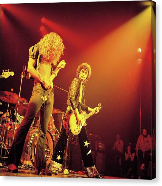 Jimmy Page Canvas Print - Photo Of Led Zeppelin by David Redfern