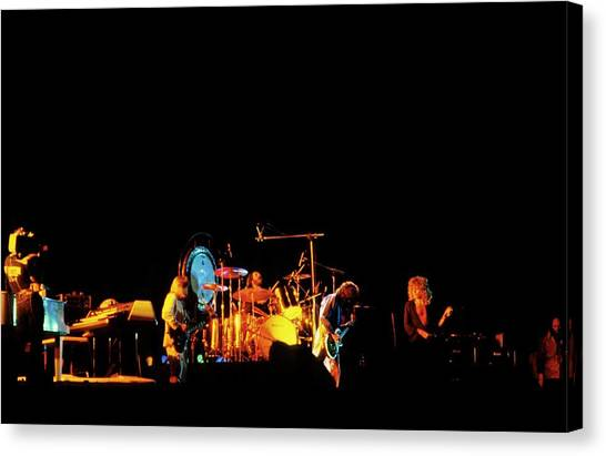 Jimmy Page Canvas Print - Photo Of Led Zeppelin by Mike Prior
