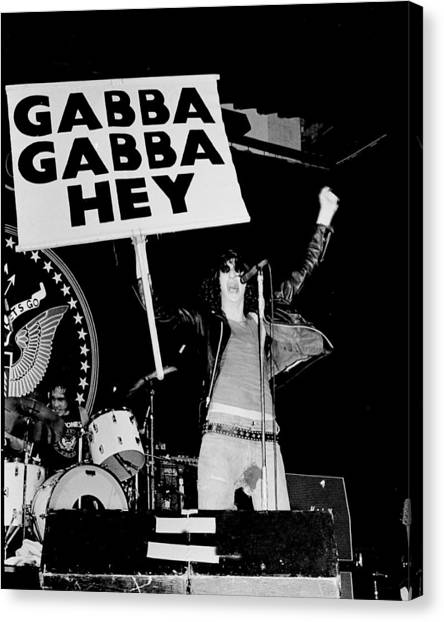 Photo Of Ramones Canvas Print by Larry Hulst