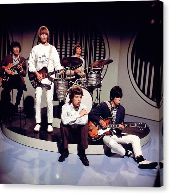 Photo Of Rolling Stones Canvas Print by David Redfern