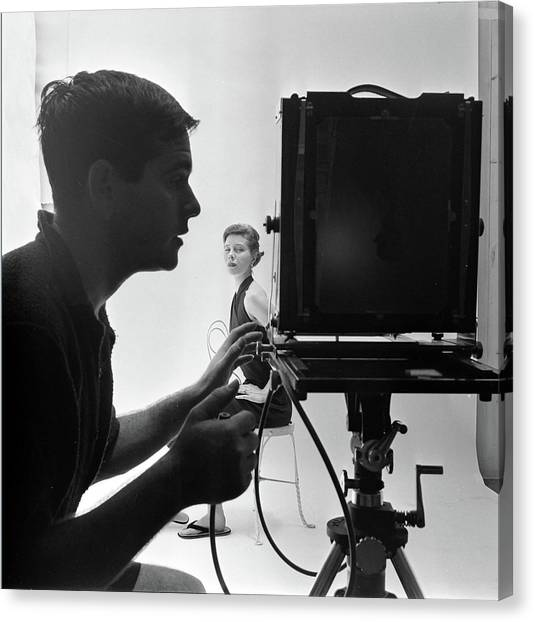 Photographing Bettina Canvas Print by Gordon Parks