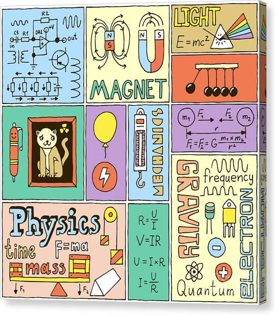 Science Education Canvas Print - Physics Science Banners Set. Color Hand by Sashatigar