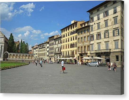 Scene Canvas Print - Piazza Santa Maria Novella by Michael Gerbino