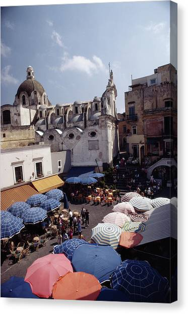 Piazza Umberto Canvas Print