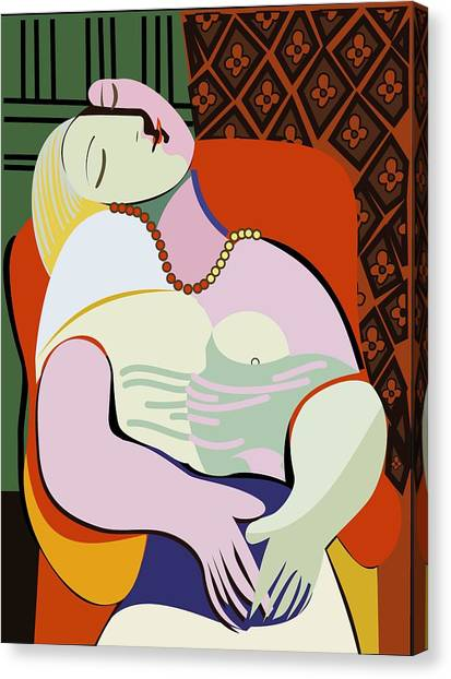 Pablo Picasso Canvas Print - Picasso's Dream Like Art Painting by ArtMarketJapan