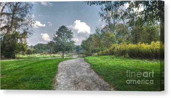 Pickerington Ponds Walkway Canvas Print
