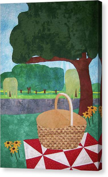 Picnic At Ellis Pond Canvas Print
