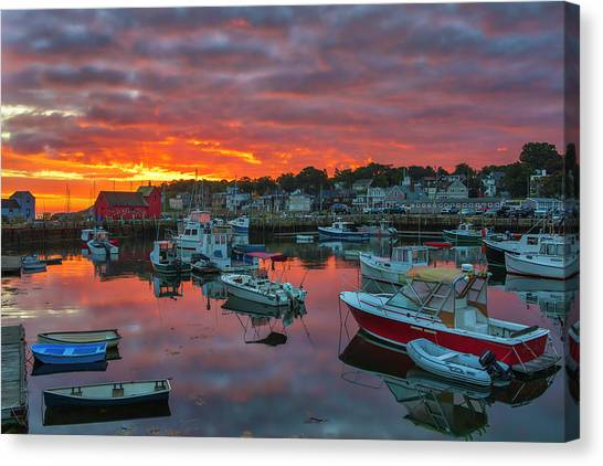 Canvas Print featuring the photograph Picturesque Rockport  by Juergen Roth