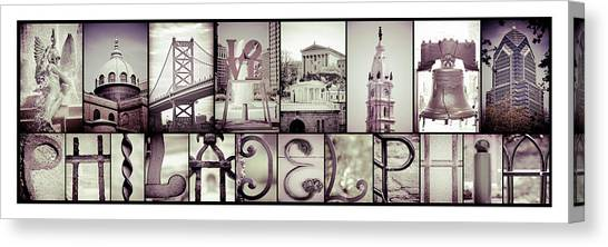 Pieces Of Philly Canvas Print